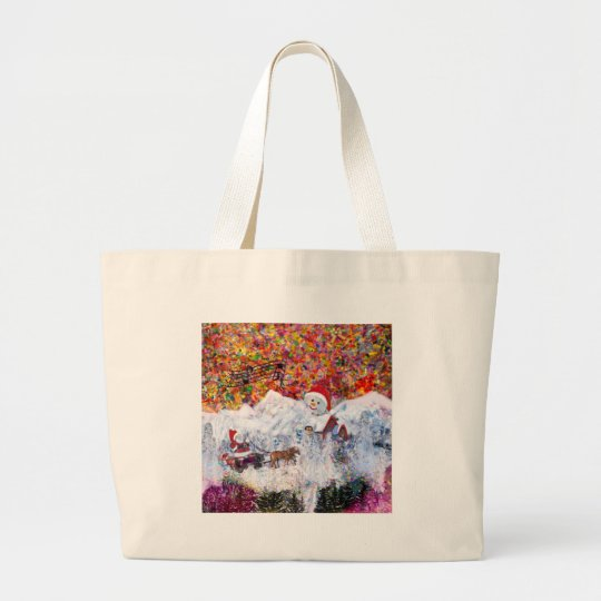 Everything happens during Christmas time Large Tote Bag