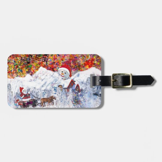 Everything happens during Christmas time Luggage Tag