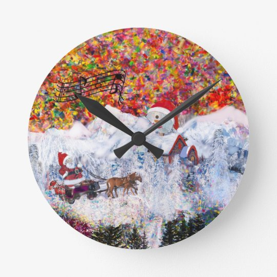 Everything happens during Christmas time Round Clock