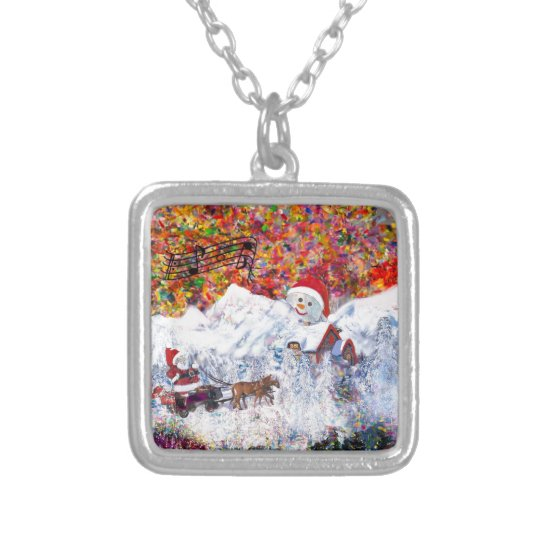 Everything happens during Christmas time Silver Plated Necklace