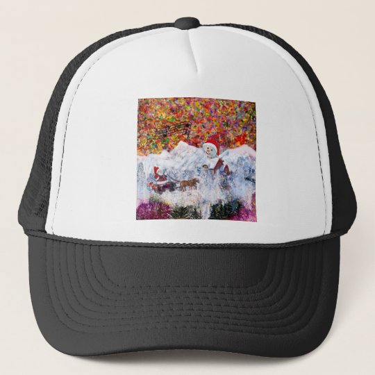 Everything happens during Christmas time Trucker Hat