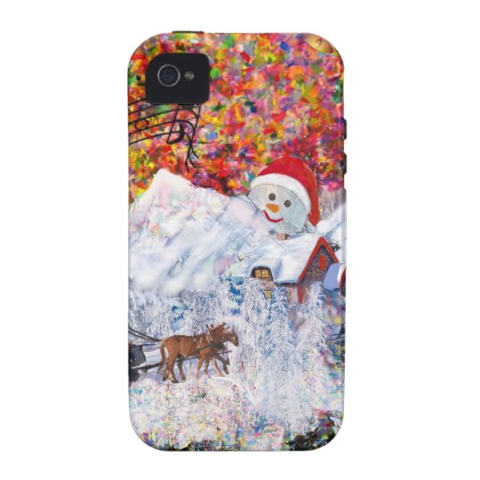 Everything happens during Christmas time Vibe iPhone 4 Cases