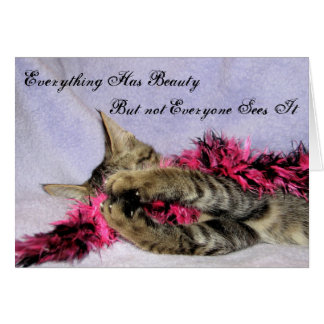 Everything Has Beauty Greeting Card