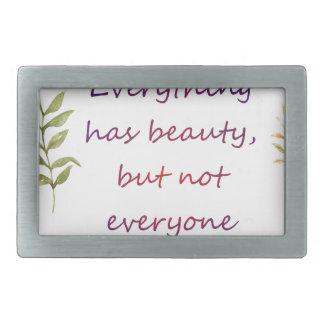 Everything has beauty rectangular belt buckle
