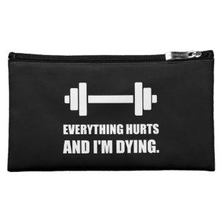 Everything Hurts Dying Workout Makeup Bag