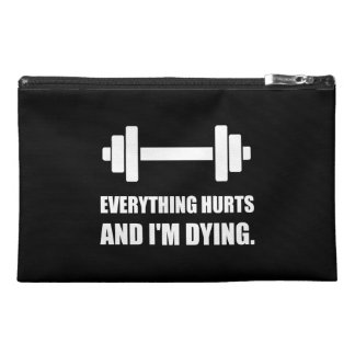 Everything Hurts Dying Workout Travel Accessories Bags