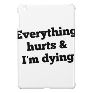 Everything Hurts Slant Black Case For The iPad Mini