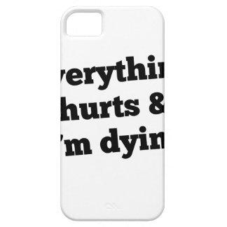 Everything Hurts Slant Black iPhone 5 Covers