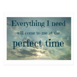 'Everything I Need' Affirmation Postcard
