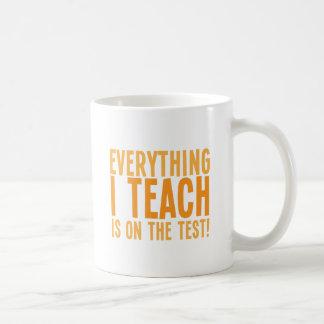 Everything I teach is on the test! Coffee Mug