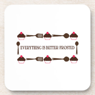 Everything Is Better Frosted Beverage Coasters