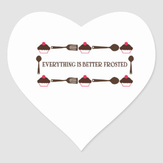 Everything Is Better Frosted Heart Sticker