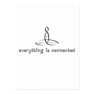 Everything Is Connected - Black Fancy style Postcard