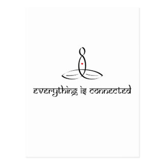 Everything Is Connected - Black Sanskrit style Postcard