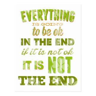 Everything is going to be ok. postcard