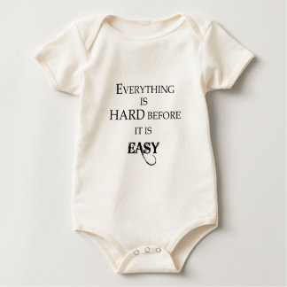 everything is hard before it is easy goethe baby bodysuit