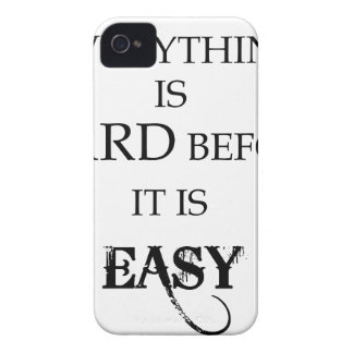 everything is hard before it is easy goethe iPhone 4 Case-Mate case