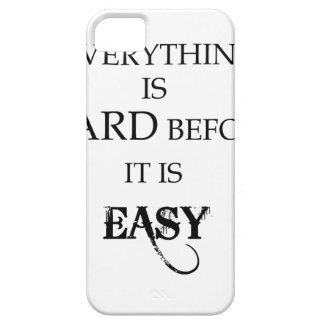 everything is hard before it is easy goethe iPhone 5 covers