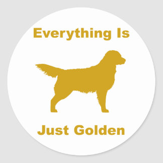 Everything Is Just Golden Classic Round Sticker