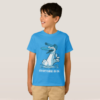 everything is ok funny duck cartoon T-Shirt