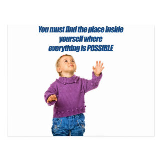 Everything is possible kid design postcard