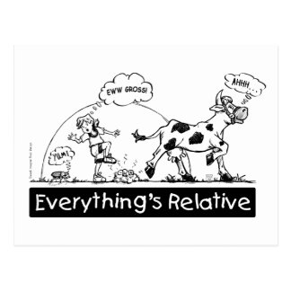 Everything is Relative Postcard