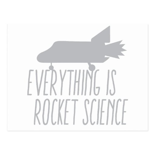 Everything is ROCKET SCIENCE Post Card