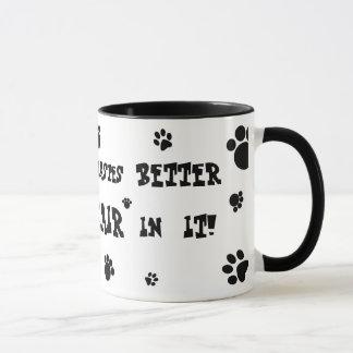 everything tastes better with cat hair mug! mug