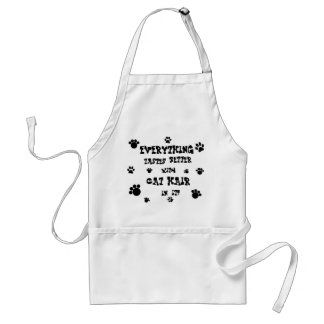 everything tastes better with cat hair standard apron