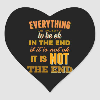 Everything Vintage Typography Inspirational Heart Sticker