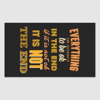 Everything Vintage Typography Inspirational Rectangle Sticker