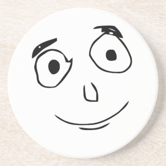 everything went better than expected comic face beverage coasters