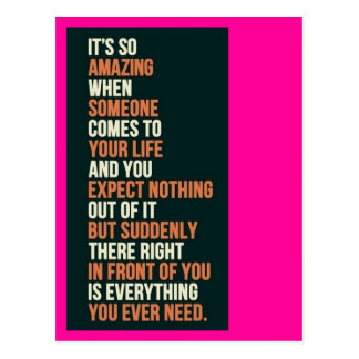 Everything You Need Postcard