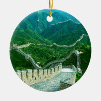 Everywhereness Great Wall Of China Round Ceramic Ornament