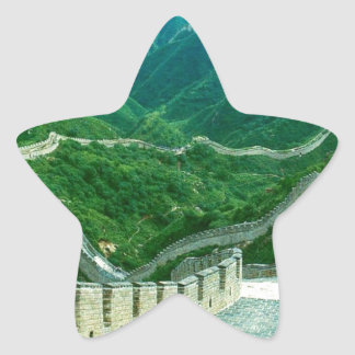 Everywhereness Great Wall Of China Star Sticker