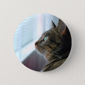 Evey the Kitty contemplates outside 2 Inch Round Button