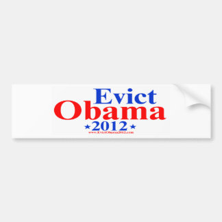 EVICT OBAMA 2012 BUMPER STICKER