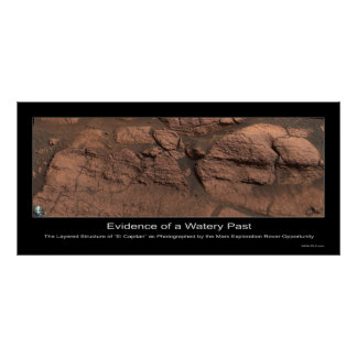 Evidence of a Watery Past on Mars Poster