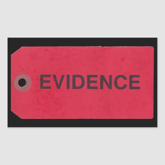 Evidence Tag Rectangular Stickers