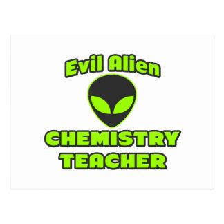 Evil Alien Chemistry Teacher Post Card