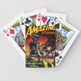 Evil Alien Robot Bicycle Playing Cards
