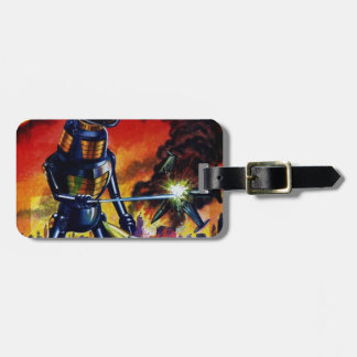 Evil Alien Robot Luggage Tag
