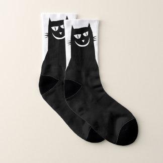 Evil Black Cat Socks