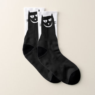 Evil Black Cat Socks 1
