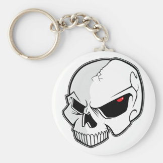 Evil Blood Red Eyeballs Skull Keychain