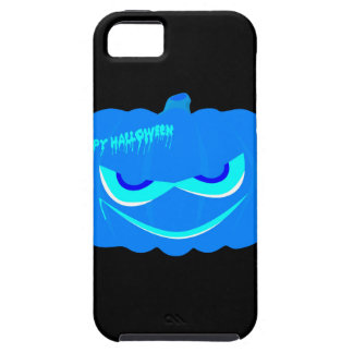 Evil Blue Halloween Pumpkin iPhone 5 Covers