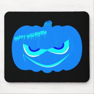 Evil Blue Halloween Pumpkin Mouse Pad