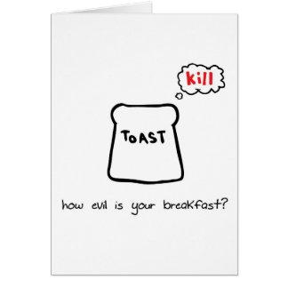 Evil Breakfast Card