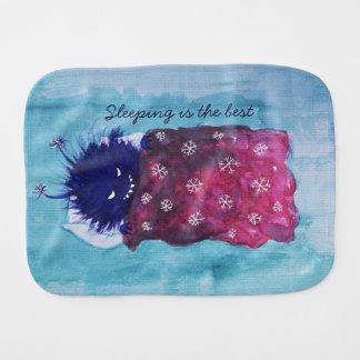 Evil Bug Loves To Relax Sleeping Is The Best Burp Cloth