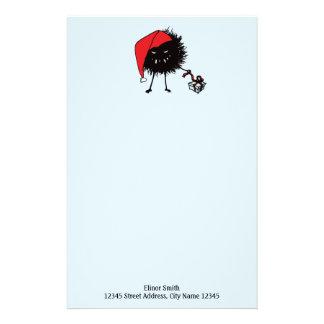 Evil Bug Unpacking Christmas Present Stationery
